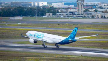 1er vol réussi à Toulouse pour le nouvel avion Airbus A330 neo