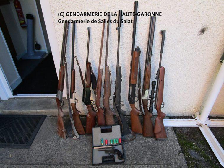 De nombreuses armes saisies à Aspet au sud de Toulouse