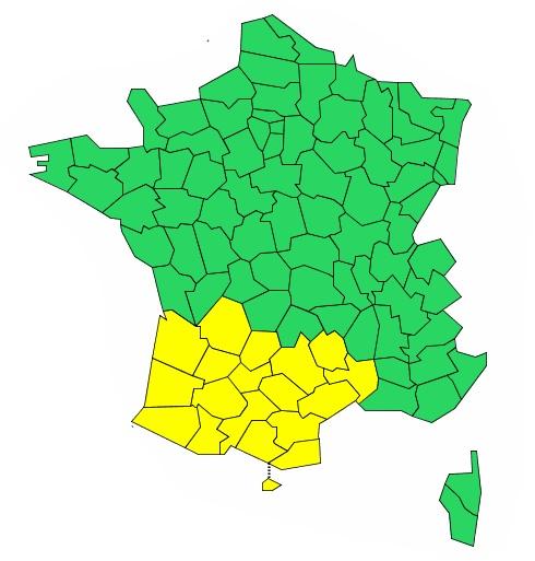 Orages, Vents violents. le département de Haute Garonne en alerte météo