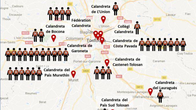 à Toulouse. nouvelle manifestation de Calandretas pour le maintien des Emplois Aidés