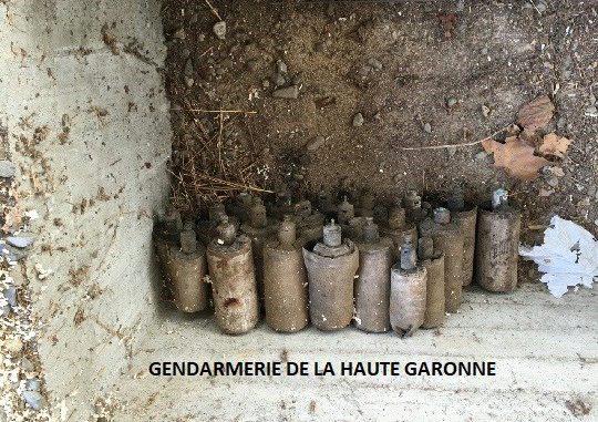 Comminges. un particulier découvre desexplosifs de la 1ere guerre mondiale