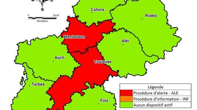 Nouvelle journée de pollution à Toulouse et Montauban ce lundi