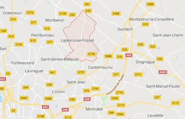 Un motard blessé dans un accident de la route à Lapeyrouse Fossat au nord de Toulouse