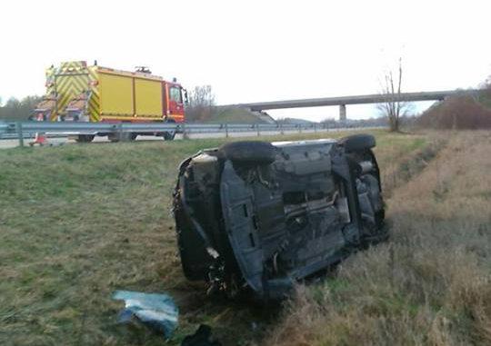 2e accident sur l'A66 entre Toulouse et Pamiers à Nailloux ce mardi