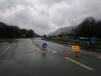 Crues Inondations. plusieurs routes de Haute Garonne inondées