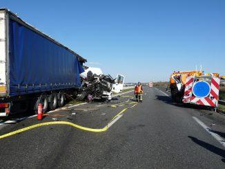 Impressionnant accident sur l'A68 sens Toulouse Albi.