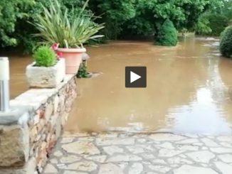 Impressionnantes inondations en Aveyron région Villefranche de Rouergue