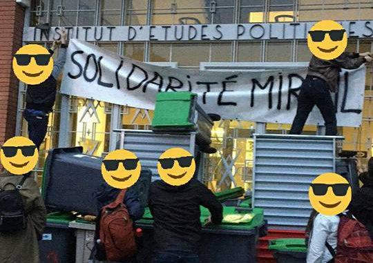 Sciences Po Toulouse, bloqué par des étudiants grévistes