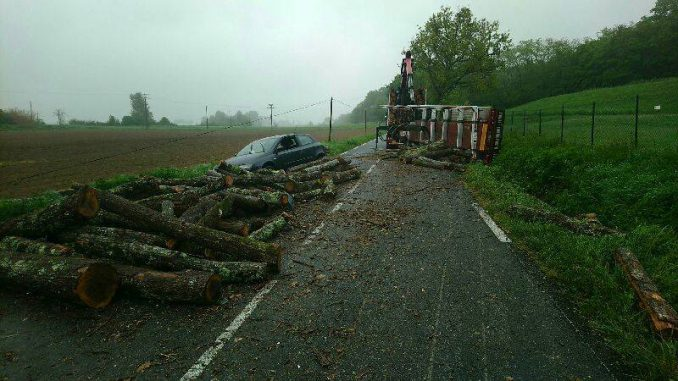 Sud Toulouse, Impressionnant accident entre un poids lourds et 2 voitures, 1 blessé grave