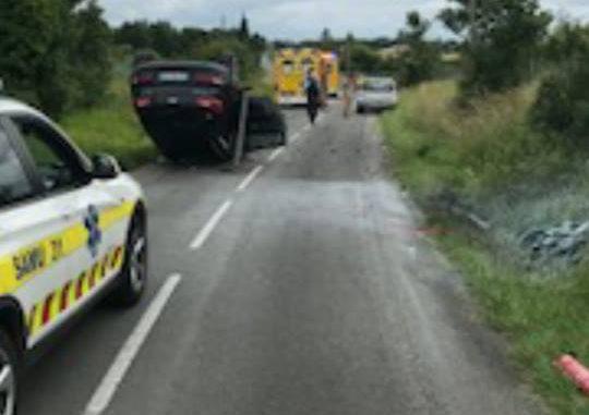 Accident de la route à Léguevin un motard projeté à 45 mètres