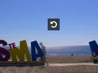 Des lettres géantes installées sur la plage de Sainte-Marie-la-Mer Vidéo