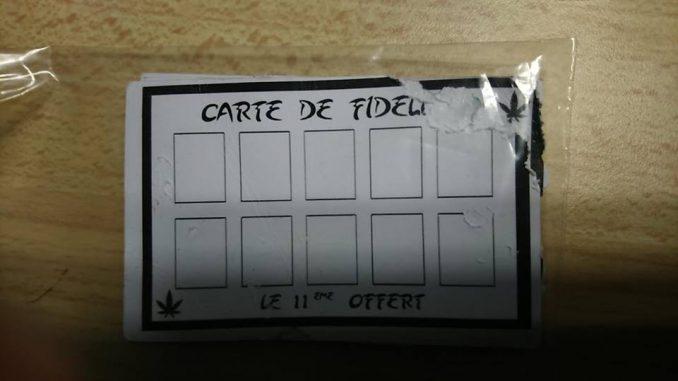 Drogue à Toulouse. La carte de fidélité des dealers, promettait le 11e achat gratuit