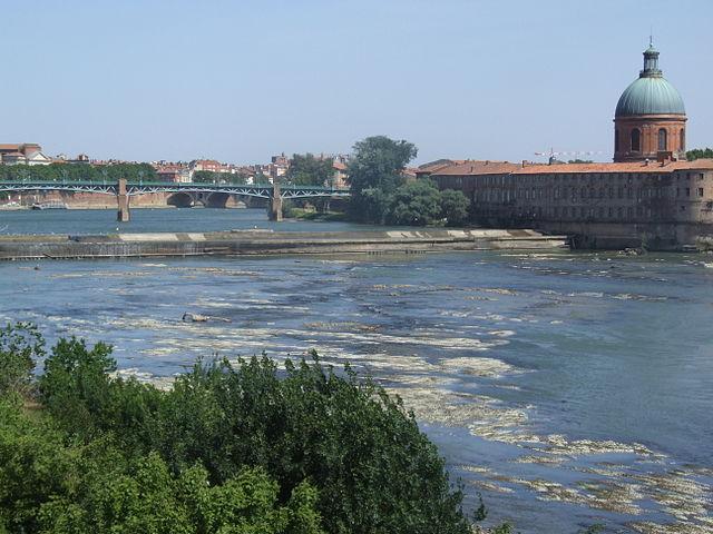 Homme tombe Garonne Bazacle Toulouse fête musique