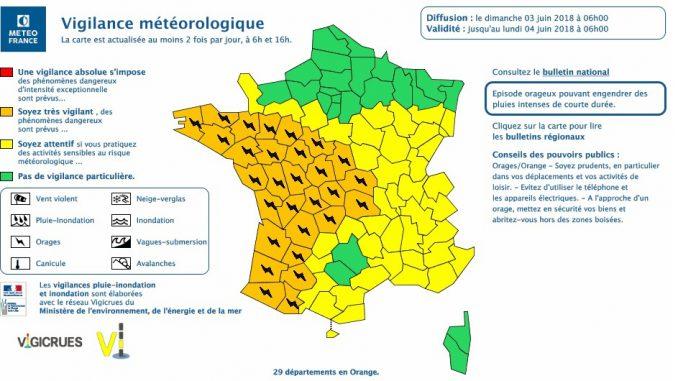 Orages, inondations, tempête. Gers et Hautes Pyrénées en alerte orange