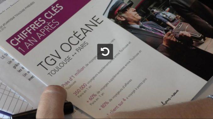 Toulouse : 1 million de clients en 2017 sur le TGV Océane, Paris Bordeaux Toulouse
