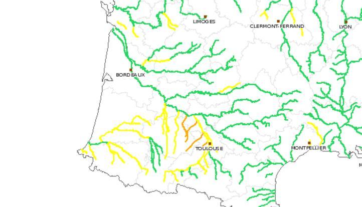 Vigicrues Alerte Orange Hautes Pyrénées Gers Tarn et Garonne