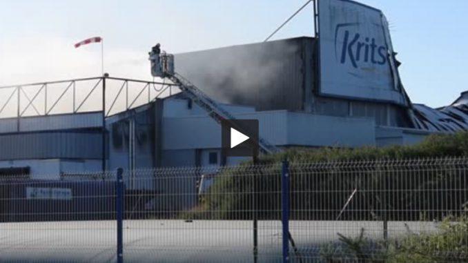 Bretagne. une usine détruite dans un incendie à Landivisiau
