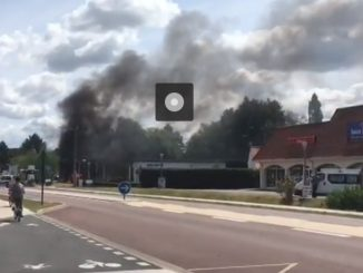 Le Touquet. Important feu dans une station service