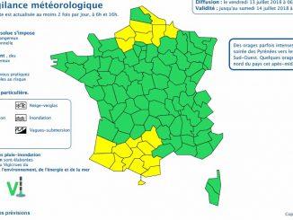 Les orages arrivent sur Toulouse la région en alerte météo vigilance jaune