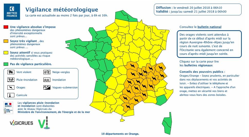 Orages violents. Tarn, Aude et Aveyron en alerte météo vigilance orange