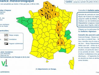 Orages. Canicule. 21 départements en alerte météo vigilance orange
