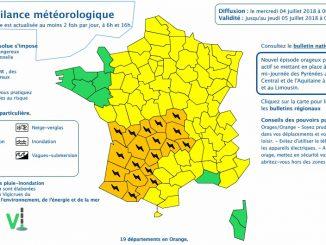 Orages. la Haute Garonne et Toulouse en alerte météo vigilance orange