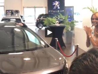 Peugeot offre une voiture à Maëva Coucke Miss France 2018