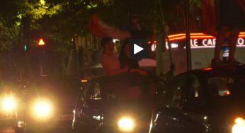 Toulouse. la fête pour fêter la victoire de la France sur la Belgique (vidéo)