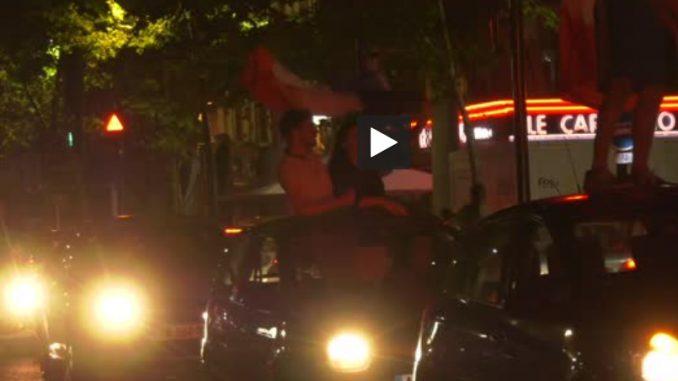 Toulouse. la fête pour fêter la victoire de la France sur la Belgique