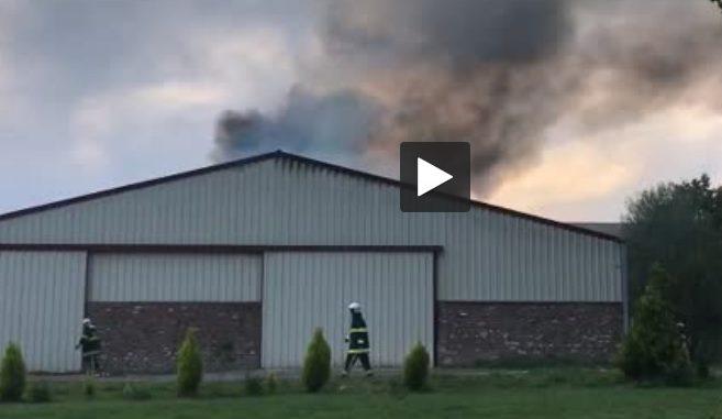 Nord. impressionnant feu dans un bâtiment agricole