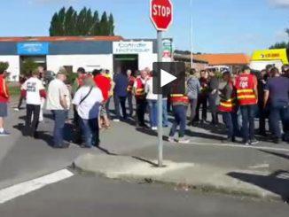 Nord. manifestation après l'arrestation de salariés à Holque