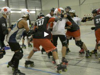 Roller derby, à Toulouse, les garçons se préparent au Mondial
