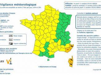 Alerte météo vigilance orange prolongée pour la Corse, le Var et les Alpes Maritimes