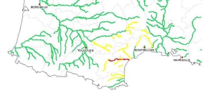 Alerte rouge prolongée ce mardi pour l'Aude
