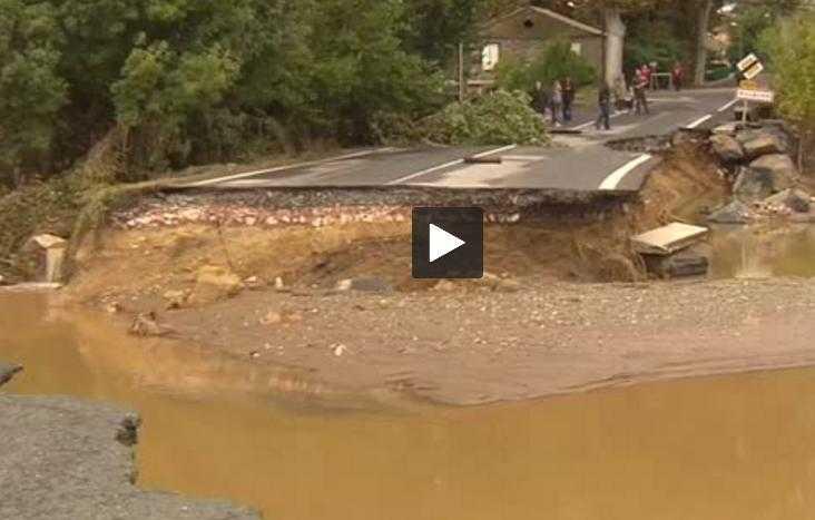 Inondations dans l'Aude. Macron promet 80 millions d'euros