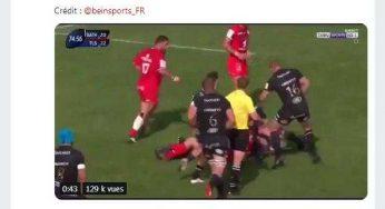 La vidéo de Médard sauvant un essai lors de Bath Stade Toulousain fait un méga buzz