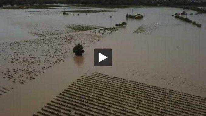 Les images des inondations dans l'Aude vues par drone