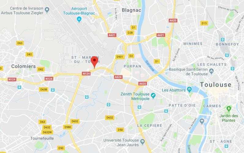 Les travaux débutent sur la RN124 échangeur du Perget à l'ouest de Toulouse