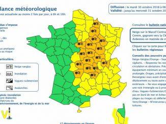 Neige Verglas, 17 départements en alerte météo vigilance orange