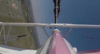 Toulouse Francazal, l'incroyable vidéo de l'acrobate qui marche sur l'aile des avions