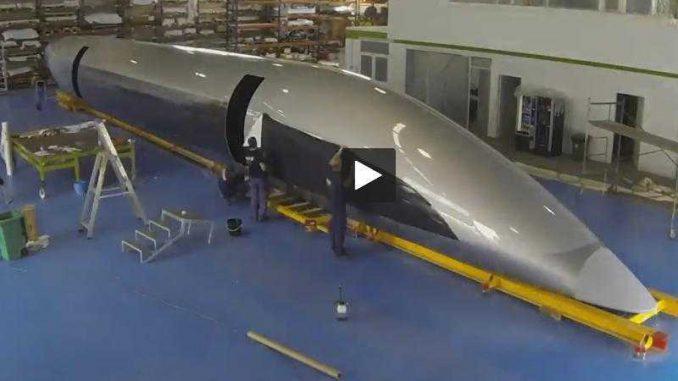 Voici la première capsule HyperloopTT destinée au site de Toulouse