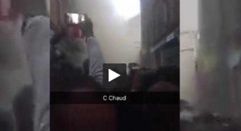 Marseille. la vidéo de l'effondrement d'un immeuble