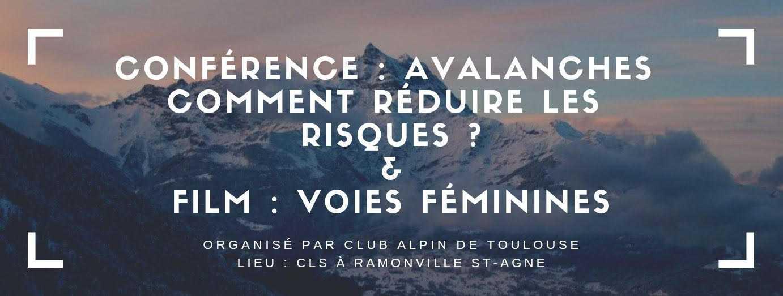 Toulouse. conférence et film sur les avalanches et la montagne