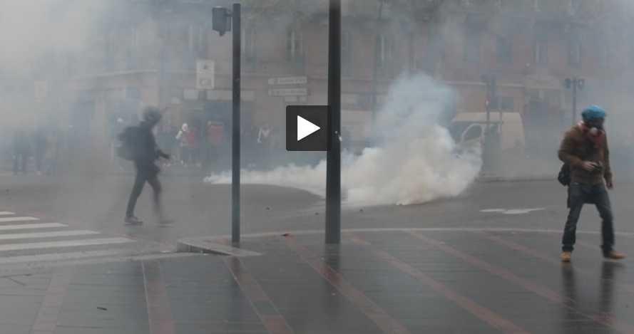 Affrontements entre manifestants et force de l'ordre samedi après-midi à Toulouse