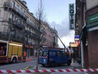 Incendie rue Bayard, les impressionnantes photos de l'intervention des pompiers