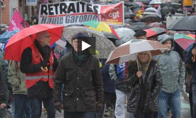 Manifestation des retraités à Toulouse