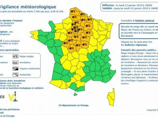 Neige, Météo France place 24 départements en alerte orange