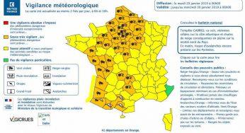Tempête Gabriel, 41 départements en alerte vigilance orange