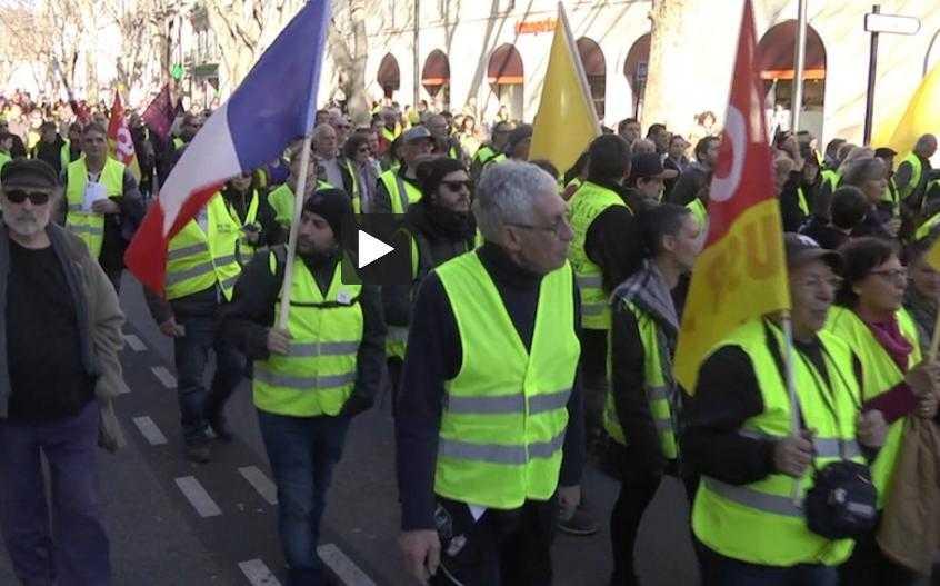 Gilets Jaunes – CGT La foule pour la manif à Toulouse