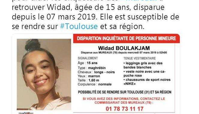 Appel à témoin pour retrouver Widad ssusceptible de se rendre sur Toulouse